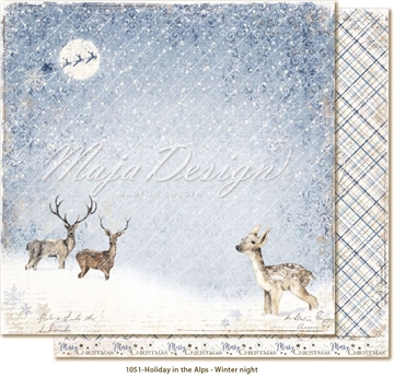 "Happymade - Maja Design - 12x12"" - Holiday in the Alps - Winter Night - 1051"