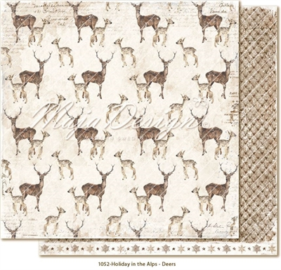 "Happymade - Maja Design - 12x12"" - Holiday in the Alps - Deers - 1052"