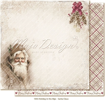 "Happymade - Maja Design - 12x12"" - Holiday in the Alps - Santa Claus - 1053"