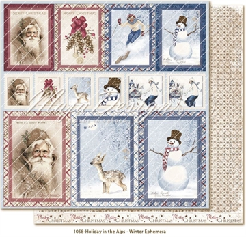 "Happymade - Maja Design - 12x12"" - Holiday in the Alps - Winter Ephemera - 1058"