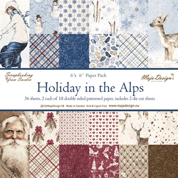 "Happymade - Maja Design - 6x6"" Paper Pack - Holiday in the Alps - 1059"