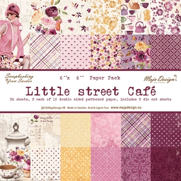 "Happymade - Maja Design - 6x6"" Paper Pack - Little Street Cafe - 1080"