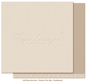 "Happymade - Maja Design - 12x12"" - Shades of the Alps - Sandalwood - 1063"