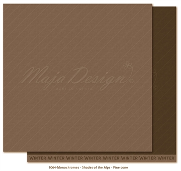 "Happymade - Maja Design - 12x12"" - Shades of the Alps - Pine Cone - 1064"