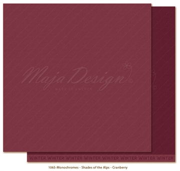 "Happymade - Maja Design - 12x12"" - Shades of the Alps - Cranberry - 1065"