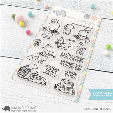 Happymade - Mama Elephant clear stamp set - Baked with Love