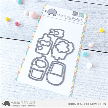 Happymade - Mama Elephant die set - Boba Tea