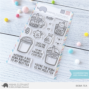 Happymade - Mama Elephant clear stamp set - Boba Tea