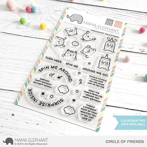 Happymade - Mama Elephant clear stamp set - Circle of Friends