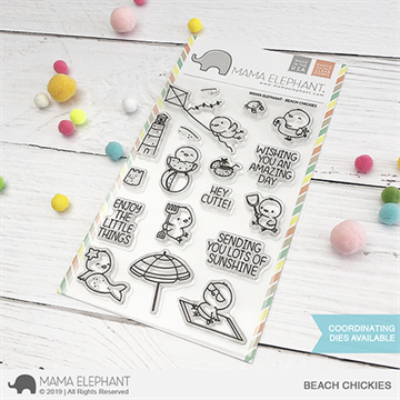 Happymade - Mama Elephant clear stamp set - Beach Chickies