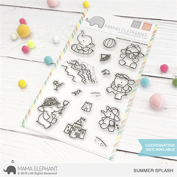 Happymade - Mama Elephant clear stamp set - Summer Splash