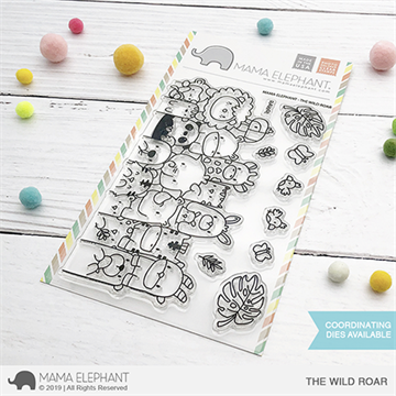 Happymade - Mama Elephant clear stamp set - The Wild Roar