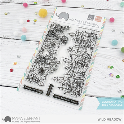 Happymade - Mama Elephant clear stamp set - Wild Meadow