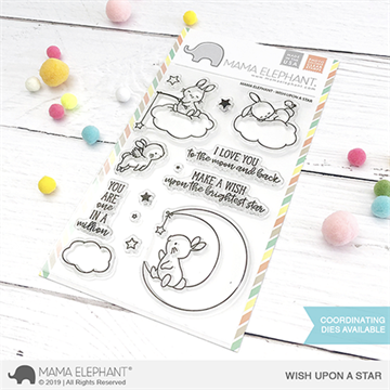 Happymade - Mama Elephant clear stamp set - Wish Upon a Star