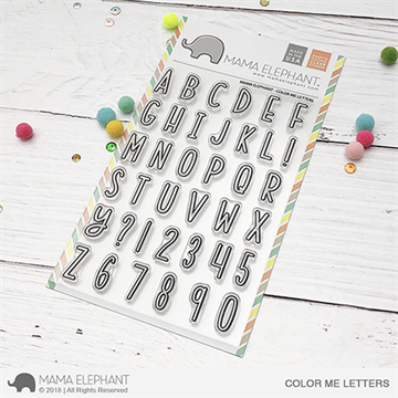 Happymade - Mama Elephant clear stamp set - Color Me Letters