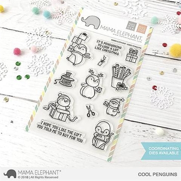 Happymade - Mama Elephant clear stamp set - Cool Penguins