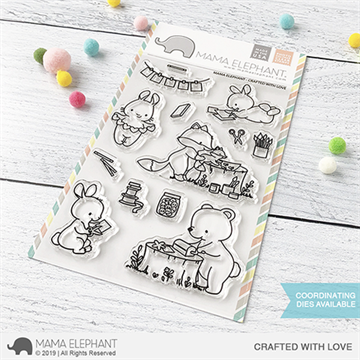 Happymade - Mama Elephant clear stamp set - Crafted with Love