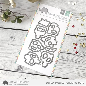 Happymade - Mama Elephant die set - Lovely Piggies