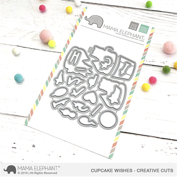 Happymade - Mama Elephant die - Cupcake Wishes