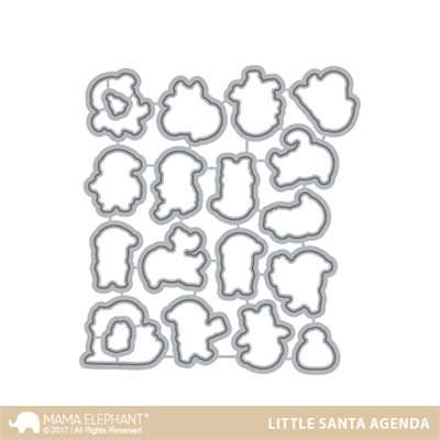 Mama Elephant die set - Little Santa agenda