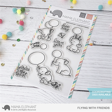 Happymade - Mama Elephant clear stamp set - Flying with Friends