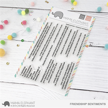 Happymade - Mama Elephant clear stamp set - Friendship Sentiments