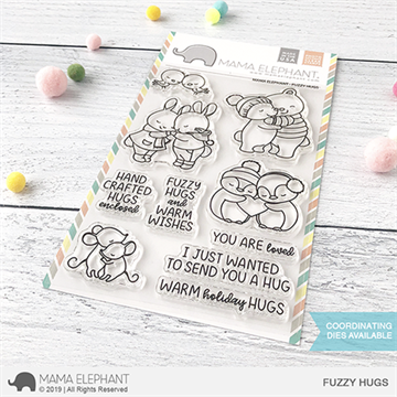 Happymade - Mama Elephant clear stamp set - Fuzzy Hugs