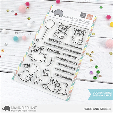 Happymade - Mama Elephant clear stamp set - Hogs and Kisses