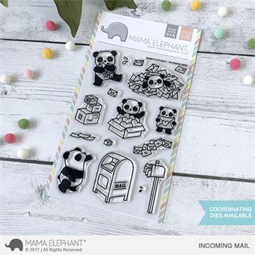 Happymade - Mama Elephant clear stamp set - Incoming Mail