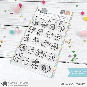 Happymade - Mama Elephant clear stamp set - Little Bear Agenda