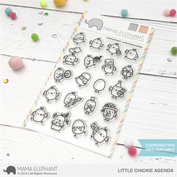 Happymade - Mama Elephant clear stamp set - Little Chickie Agenda