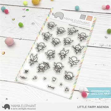 Happymade - Mama Elephant clear stamp set - Little Fairy Agenda