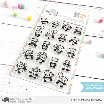 Happymade - Mama Elephant clear stamp set - Little Panda Agenda