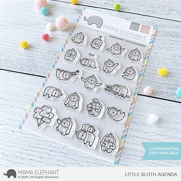 Happymade - Mama Elephant clear stamp set - Little Sloth Agenda