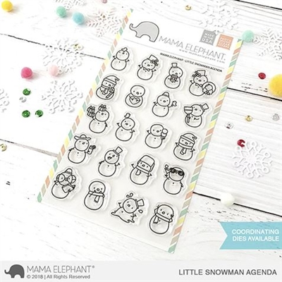 Happymade - Mama Elephant clear stamp set - Little Snowman Agenda