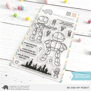 Happymade - Mama Elephant clear stamp set - Me and my Robot