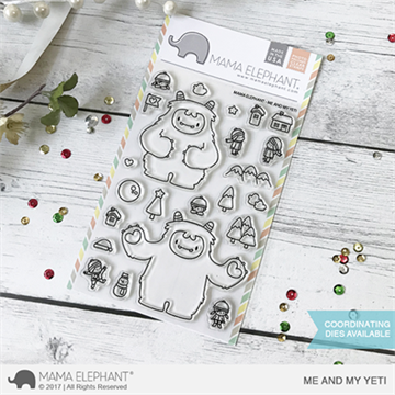 Happymade - Mama Elephant clear stamp set - Me and My Yeti