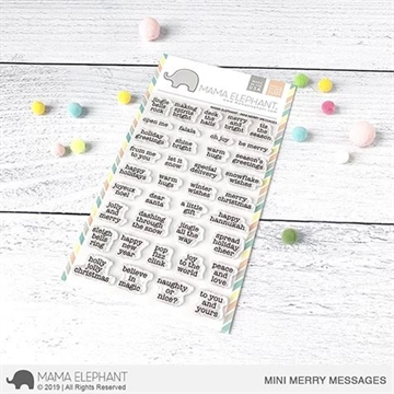 Happymade - Mama Elephant clear stamp set - Mini Merry Messages