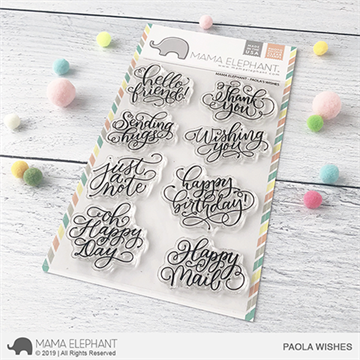 Happymade - Mama Elephant clear stamp set - Paola's Wishes
