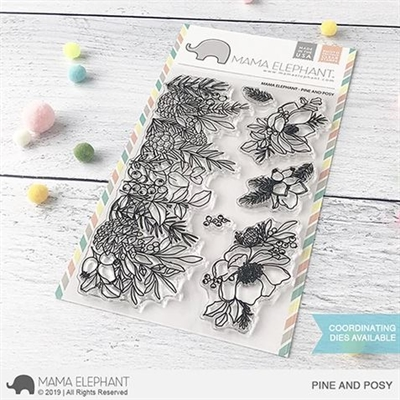 Happymade - Mama Elephant clear stamp set - Pine and Posy