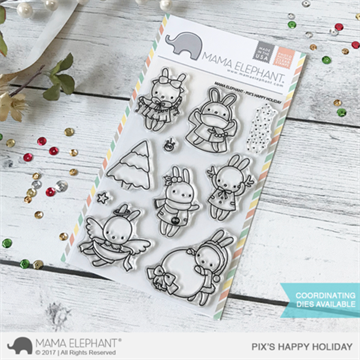 Happymade - Mama Elephant clear stamp set - Pix's Happy Holiday