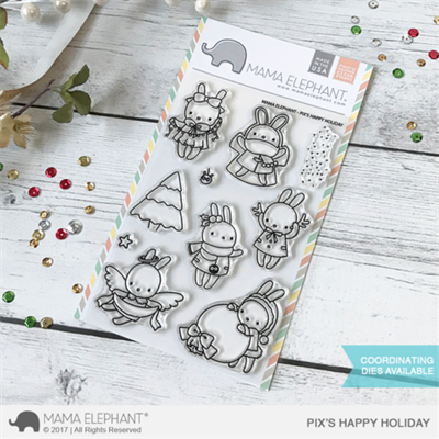 Happymade - Mama Elephant clear stamp set - Pix\'s Happy Holiday