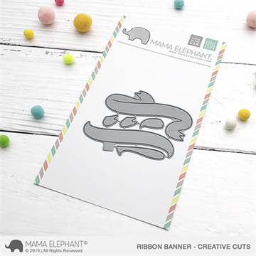 Happymade - Mama Elephant die - Ribbon Banner