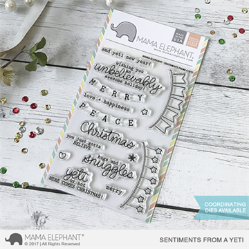 Happymade - Mama Elephant clear stamp set - Sentiments from a Yeti