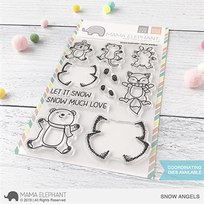 Happymade - Mama Elephant clear stamp set - Snow Angels