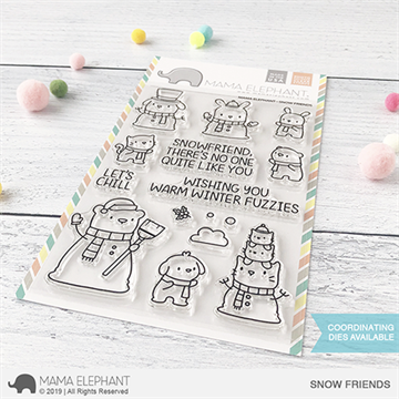 Happymade - Mama Elephant clear stamp set - Snow Friends