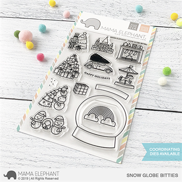 Happymade - Mama Elephant clear stamp set - Snow Globe Bitties