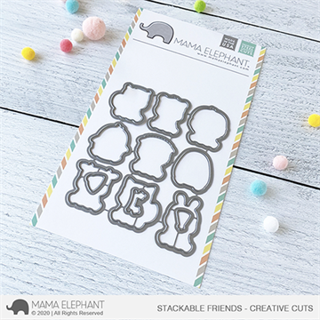 Happymade - Mama Elephant die set - Stackable Friends