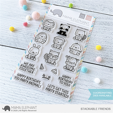 Happymade - Mama Elephant clear stamp set - Stackable Friends