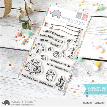 Happymade - Mama Elephant clear stamp set - Animal Parade